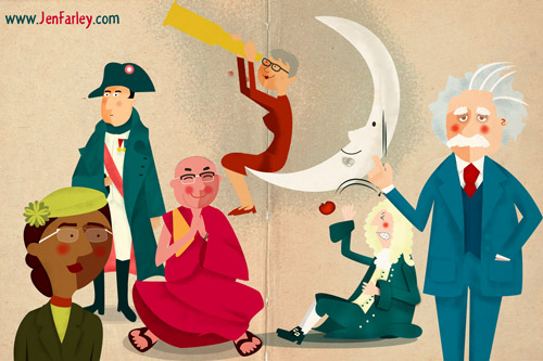 Historically Famous People Illustrated